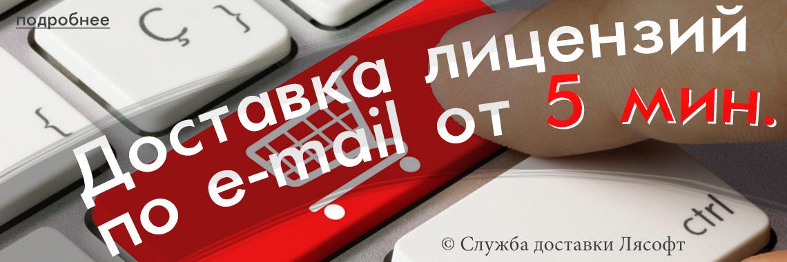Доставка лицензий по e-mail